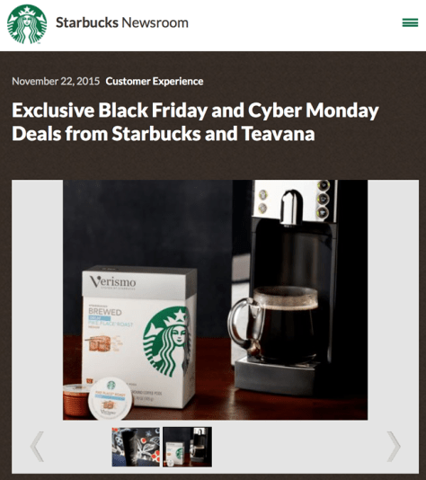 Starbucks Black Friday 2015 Ad - Page 1