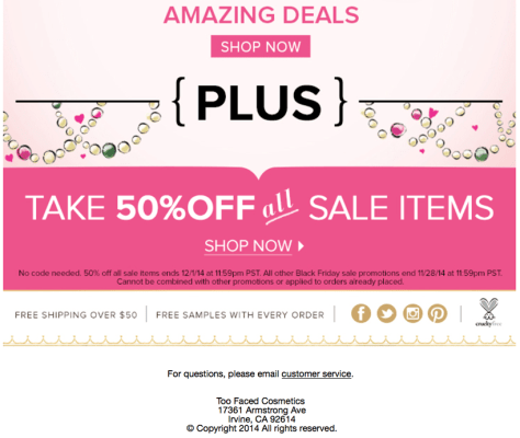 Too Faced black friday ad scan - page 3