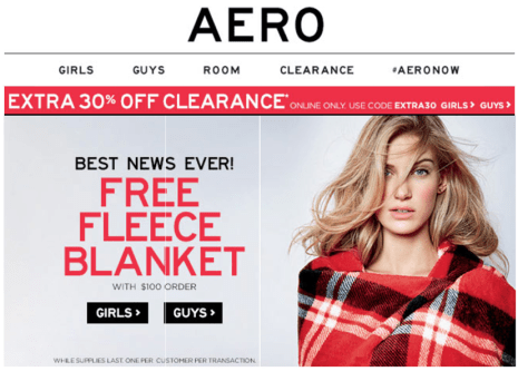 aeropostale black friday ad scan - page 1
