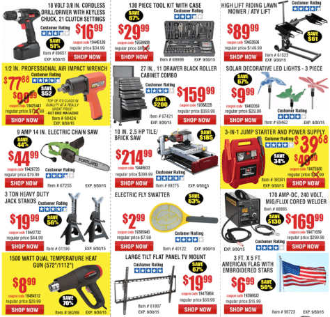 Harbor Freight Tools Labor Day Sale 2015 - Page 2