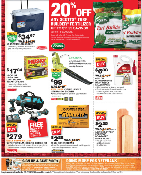 Home Depot Labor Day Sale 2015 - Page 2