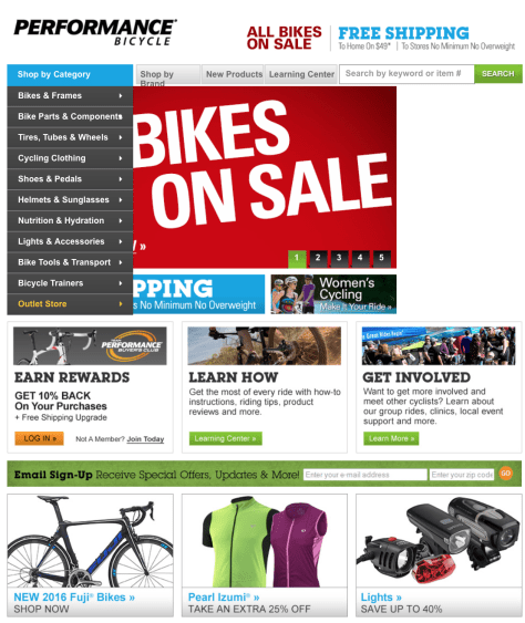 Performance Bike Labor Day Sale 2015 - Page 1