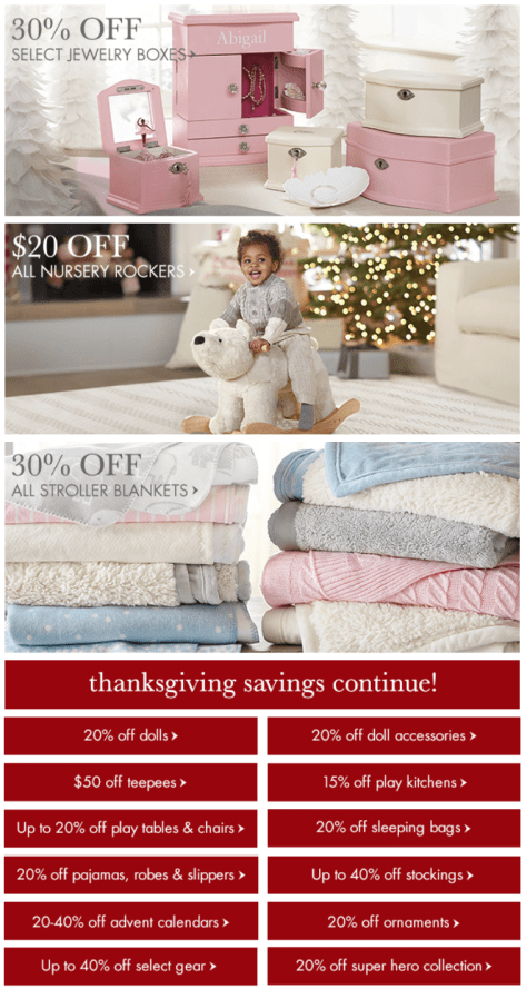 Pottery Barn Kids Black Friday Ad - Page 2