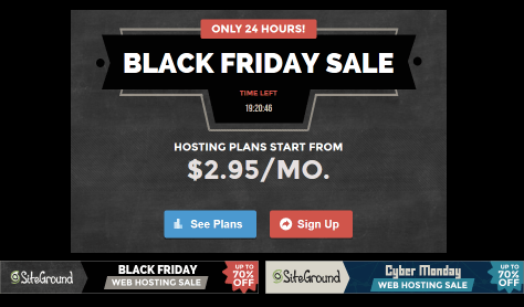 Siteground Black Friday Ad - Page 1