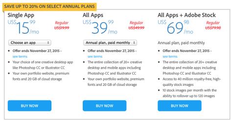 Adobe Black Friday 2015 Ad - Page 2