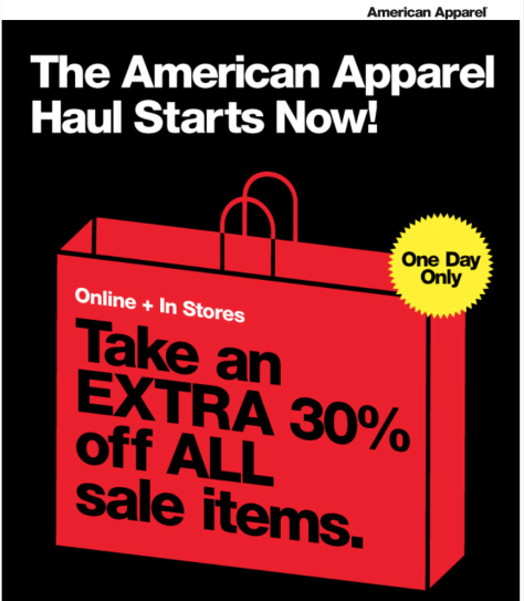 American Apparel Black Friday Ad - Page 1