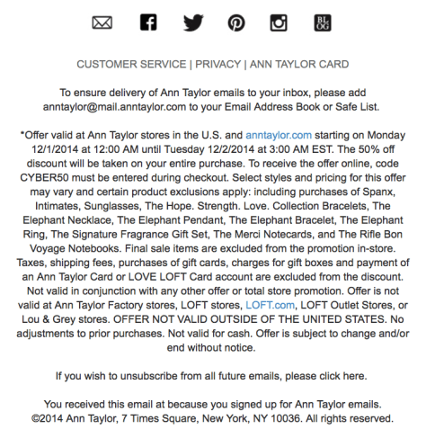 Ann Taylor Cyber Monday Ad - Page 2