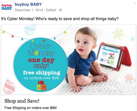 Buy Buy Baby Cyber Monday Ad - Page 1
