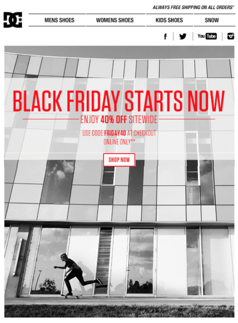 DC Shoes Black Friday Ad - Page 1