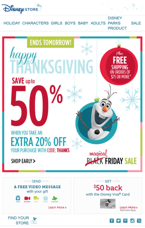 Disney Store Black Friday Ad - Page 1