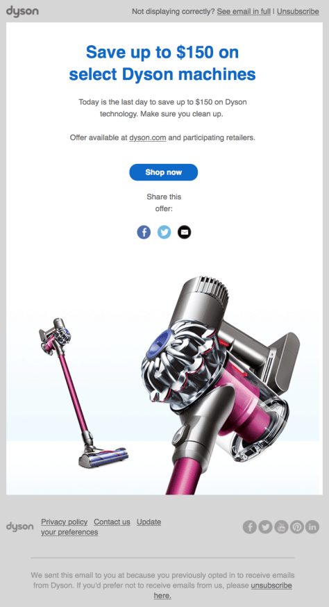 Dyson Cyber Monday Ad 2015 - Page 1