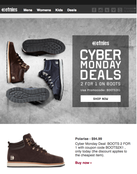 Etnies Cyber Monday Ad - Page 1