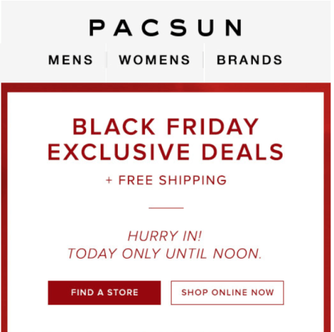 Pacsun Black Friday Ad - Page 1