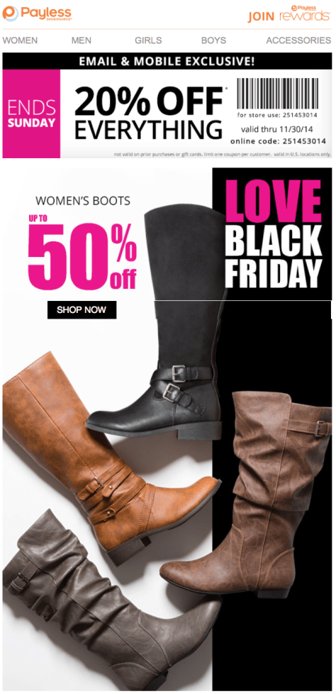 Payless Shoes Black Friday Ad - Page 1