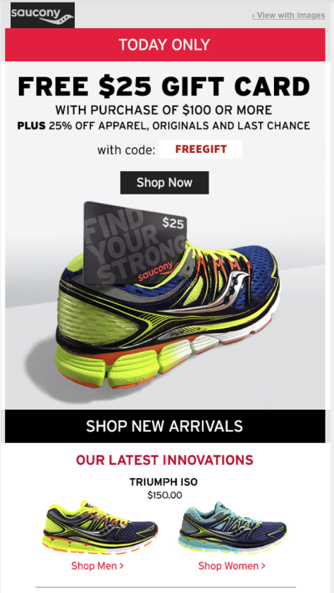 Saucony Cyber Monday Ad - Page 1