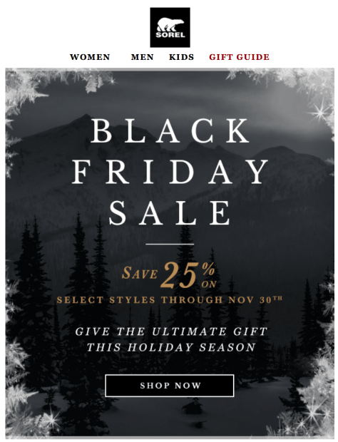 Sorel Black Friday Ad - Page 1