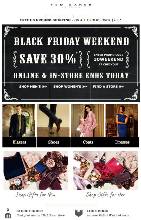 Ted Baker Cyber Monday Ad - Page 1