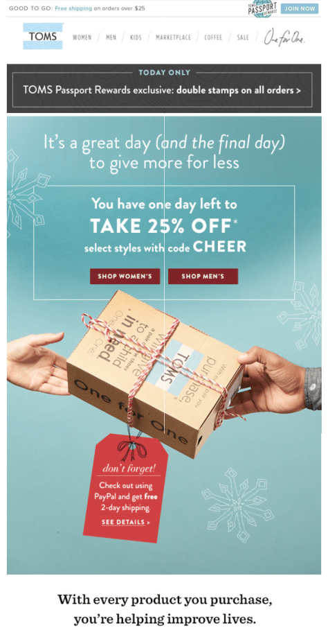 Toms Cyber Monday Ad - Page 1