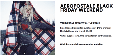 Aeropostale Black Friday 2015 Flyer - Page 1