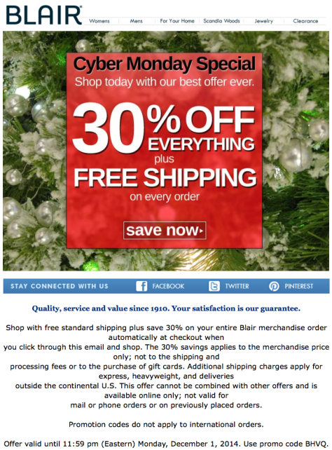 Blair Cyber Monday Ad - Page 1
