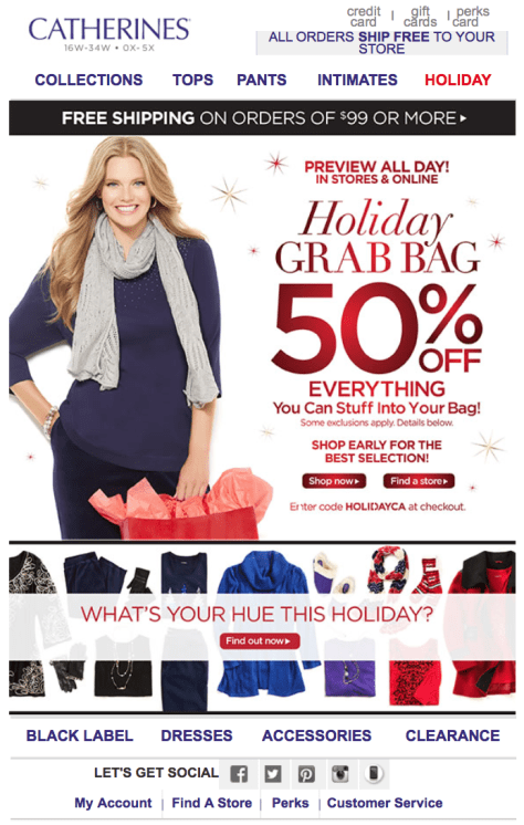 Catherines Black Friday Ad - Page 1