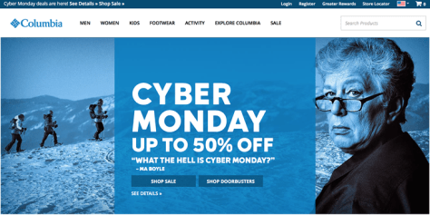 Columbia Cyber Monday 2015 Ad - Page 1