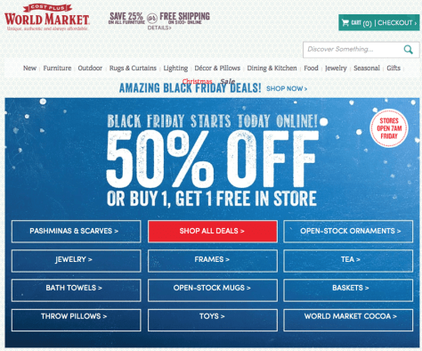 Cost Plus World Market Black Friday 2015 Flyer - Page 1