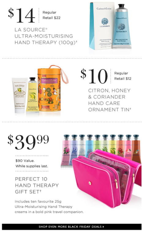Crabtree and Evelyn Black Friday 2015 Flyer - Page 2