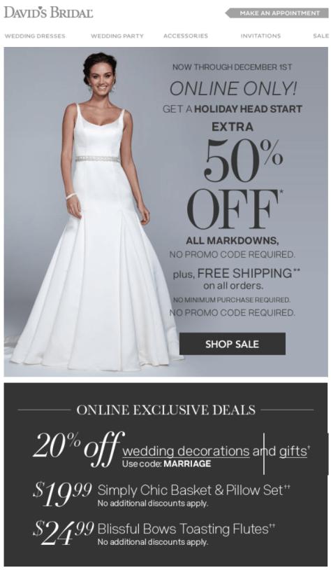 Davids Bridal Cyber Monday Ad - Page 1