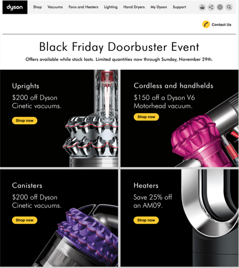 Dyson Black Friday 2015 Ad - Page 1