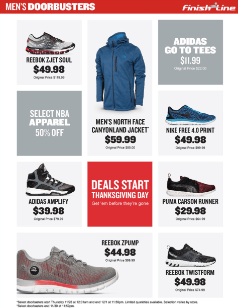 Finish Line Cyber Monday 2015 Ad - Page 2
