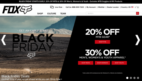 Fox Racing Black Friday 2015 Flyer - Page 1