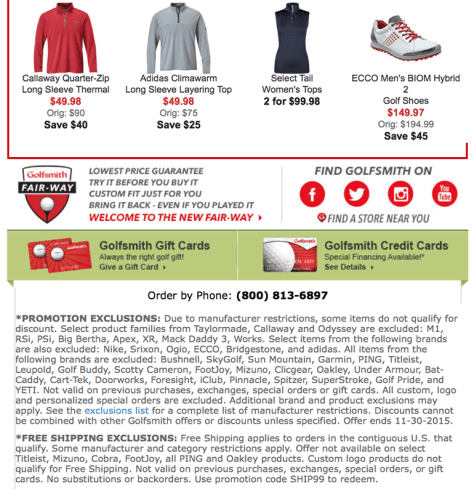Golfsmith Cyber Monday 2015 Ad - Page 7