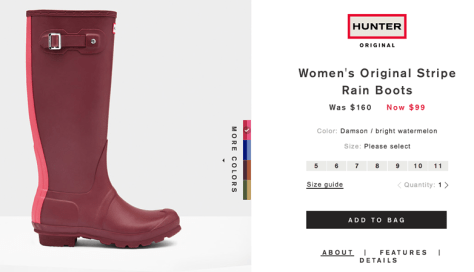 Hunter Boots Cyber Monday 2015 Ad - Page 2