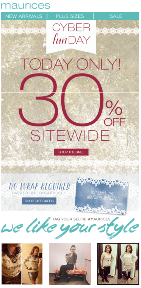 Maurices Cyber Monday Ad - Page 1