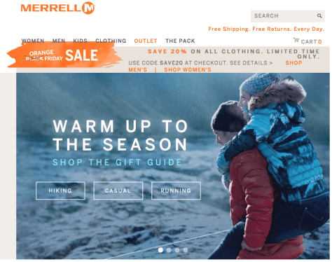 Merrell Black Friday 2015 Flyer - Page 1
