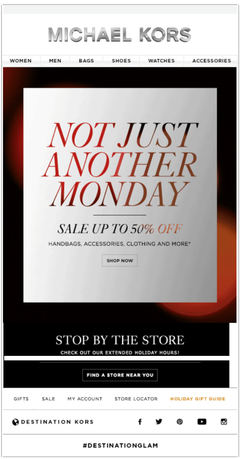Michael Kors Cyber Monday Ad - Page 1