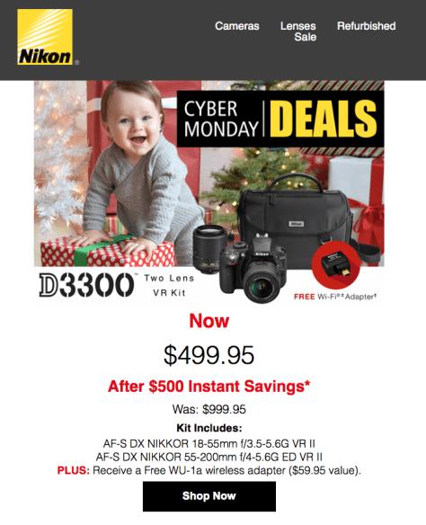 Nikon Cyber Monday 2015 Ad - Page 1