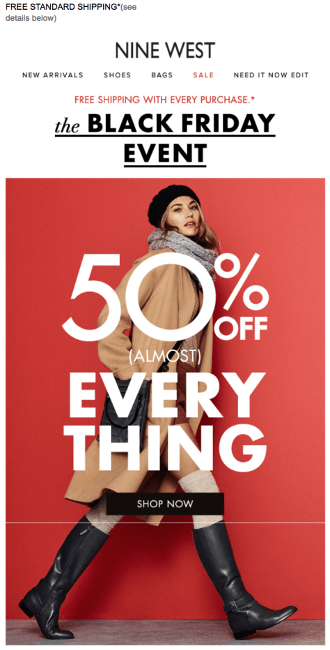 Nine West Black Friday 2015 Flyer - Page 1