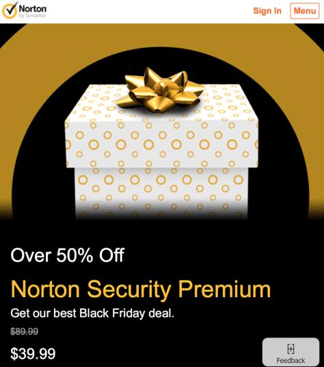 Norton Black Friday 2015 Flyer - Page 1