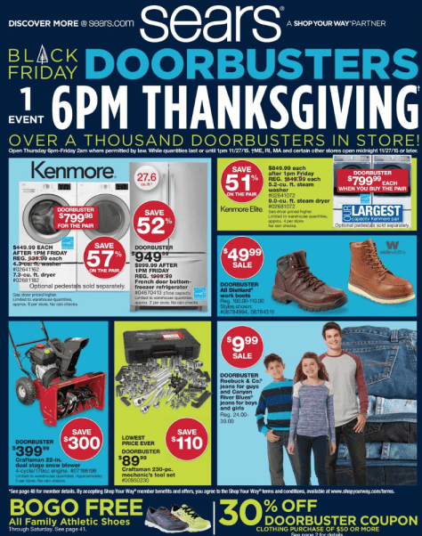 Sears Black Friday 2015 Ad - Page 1