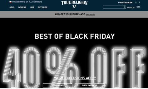 True Religion Black Friday 2015 Ad - Page 1