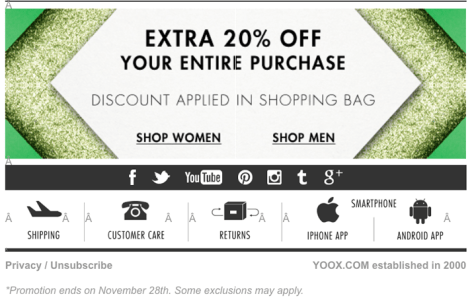 Yoox Black Friday 2015 Flyer - Page 1