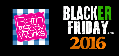 Bath and Body Works Black Friday 2016
