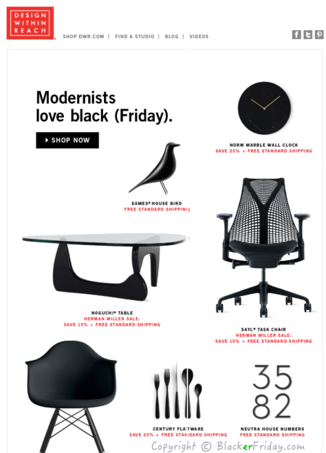 Design Within Reach Black Friday Ad Scan - Page 1