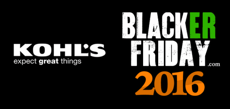 Kohls Black Friday 2016