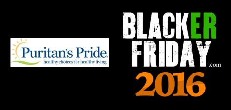 Puritans Pride Black Friday 2016