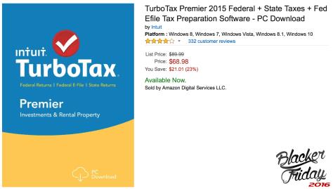 TurboTax April 2016 Amazon