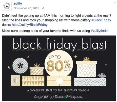 Zulily Black Friday Ad Scan - page 1