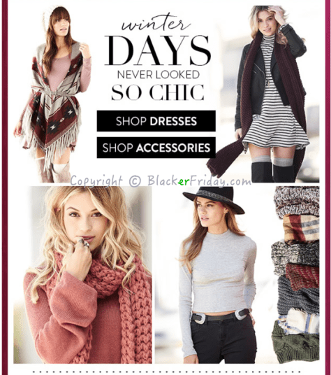 Charlotte Russe Cyber Monday Ad Scan - Page 2